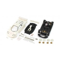 F1 GTR - Full white kit with aluminum preassembled chassis and prepainted parts - BRMBRM032-K