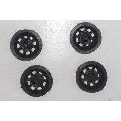 NASCAR wheel inserts for S-128 wheels - BLACK (x4) - BRMS-130