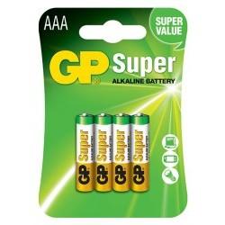 Blister da 4 pile Ministilo Super Alcaline tipo AAA - GPB5507