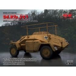 1/48 Sd.Kfz.261, German Radio Communication Vehicle - ICM48194