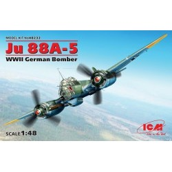1/48 Ju 88A-5, WWII German Bomber (100% new molds)  - ICM48232