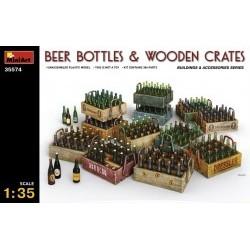 1/35 Beer Bottles & Wooden Crates - MNA35574