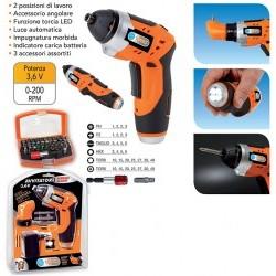 Avvitatore batteria litio 3,6V kit 32 ins.ass. - PGMPG37NT