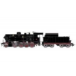 FS, Locomotiva a vapore GR 743 390, fanali elettrici, tender a carrelli, epoca III-IV - DCC Sound - RIVHR2746S