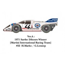 1/24 917K 1971 ver. A 1971 Sarthe 24hours Winner [Martini International Racing Team] #22 H.Marko / G.Lennep