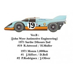 1/24 917K 1971 ver. B [John Wyer Autimotive Engineering] 1971 Sarthe 24hours #19 R.Attwood / H.Muller 1971 Monza 1,000km #1 J.Siffert / D.Bell #2 P.Rodriguez / J.Oliver