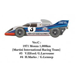 1/24 917K 1971 ver. C 1971 Monza 1,000km [Martini International Racing Team] #3 V.Elford/G.Larrousse #4 H.Marko / G.Lennep