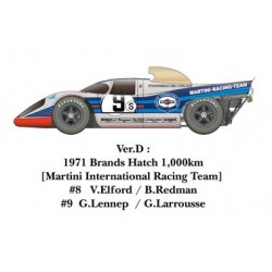 1/24 917K 1971 ver. D 1971 Brands Hatch 1,000km [Martini International Racing Team] #8 V.Elford / B.Redman #9 G.Lennep / G.Larrousse