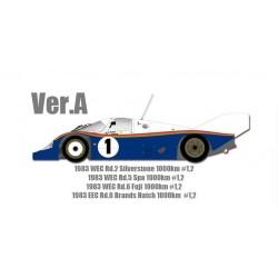 1/12 P956 Ver.A : 1983 WEC Rd.2 Silverstone 1000km #1 #2 - 1983 WEC Rd.5 Spa 1000km #1 #2 - 1983 WEC Rd.6 Fuji 1000km #1 #2 - 1983 EEC Rd.6 Brands Hatch 1000km #1 #2