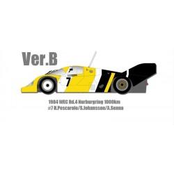 1/12 P956 Ver.B : 1984 WEC Rd.4 Nurburgring 1000km #7 H.Pescarolo/S.Johansson/A.Senna