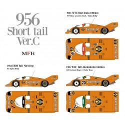 1/12 P956 short tail Ver.C 1984 DRM Rd.1 Norisring #1 1984 WEC Rd.8 Imola 1000km #19 1985 WEC Rd.5 Hockenheim 1000km #20