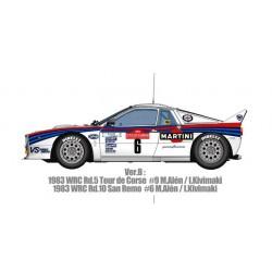 1/12 Lancia 037 Ver.B 1983 WRC Rd.5 Tour de Corse #9 Alホn/Kivimaki - 1983 WRC Rd.10 San Remo #6 Alホn/Kivimaki
