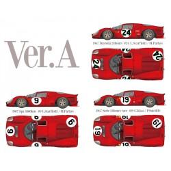 1/12 Ferrari 330P4 Berlinetta Ver.A 1967 Daytona 24hours #24 L.Scarfiotti / M.Parkes - 1967 Spa 1000km #9 L.Scarfiotti / M.Parkes - 1967 Sarte 24hours race #19 G.Klass / P.Sutcliffe