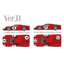 1/12 Ferrari 330P4 Berlinetta Ver.B 1967 Monza 1000km #4 L.Scarfiotti / M.Parkes - 1967 Sarte 24hours race #21 L.Scarfiotti / M.Parkes