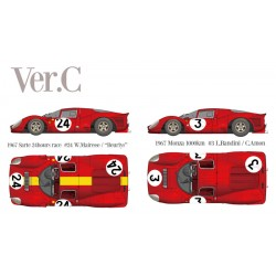 "1/12 Ferrari 330P4 Berlinetta Ver.C 1967 Sarte 24hours race #24 W.Mairesse / ""Beurlys""- 1967 Monza 1000km #3 L.Bandini / C.Amon"