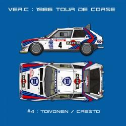 1/12 Lancia Delta S4 Ver.C :1986 WRC Rd.5 Tour de Corse #4 Toivonen/Cresto