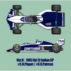 1/12 Brabham BT52B Ver.B 1983 Rd.13 Italian GP  #5 N.Piquet / #6 R.Patrese