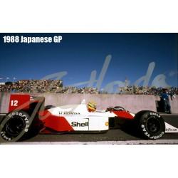1/43 McLaren MP4/4 Ver.C 1988 Rd.9 German GP / Rd.11 Belgian GP/ Rd.12 Italian GP #12 Ayrton Senna - 1988 Rd.14 Spanish GP #12 Ayrton Senna - 1988 Rd.10 Hungarian GP / Rd.13 Portugal GP / Rd.15 Japanese GP #12 Ayrton Senna