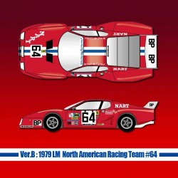 1/12 Ferrari 512BB LM Ver.B 1979 LM North American Racing Team #64