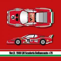 1/12 Ferrari 512BB LM Ver.D 1980 LM Scuderia Bellancauto #79