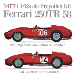 """1/12 Ferrari 250TR 58 -"""" 1958 Targa Florio #106 L.Musso/O.Gendebien -€"""" 1958 LM #14 P.Hill/O.Gendebien (proportion kit)"""