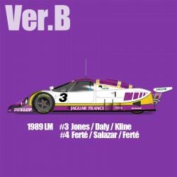 1/12 Jaguar XJR-9 Ver.B 1989 LM #3 Jones/Daly/Kline - #4 Ferté/Salazar/Ferté