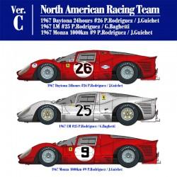 1/12 Ferrari 412P Ver.C North American Racing Team - 1967 Daytona 24hours #26 P.Rodriguez / J.Guichet - 1967 Monza 1000km #9 P.Rodriguez / J.Guichet - 1967 LM #25 P.Rodriguez / G.Baghetti