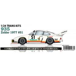 "1/24 Porsche 935 ""Kremer"" #51 Zolder 1977 conversion kit"