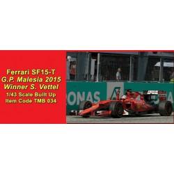 Ferrari SF15-T Malaysian GP 2015 winner Sebastian Vettel