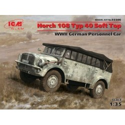 1/35 Horch 108 Typ 40 Soft Top, WWII German Personnel Car (100% new molds) - ICM35506